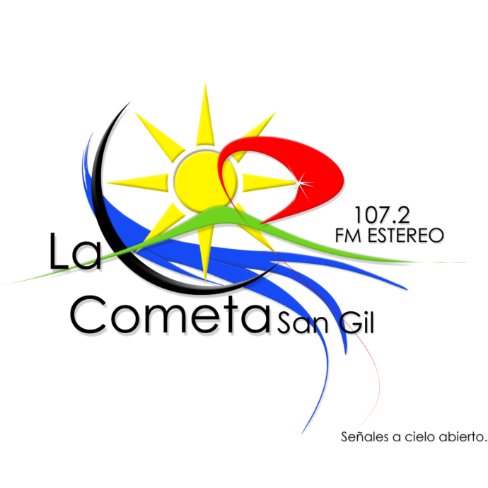 Logo cometa fondo blanco